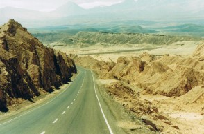 Desierto con su ruta