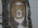 In the garden I have this Buddha that took 'allure' of Papa Noel with the snow storm this afternoon...