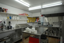 The kitchen of the restaurant