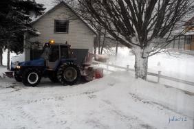 Snow machine in action