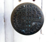 An old latch in the exterior door