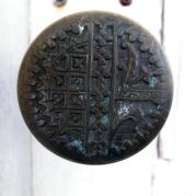 An old latch in the exterior door