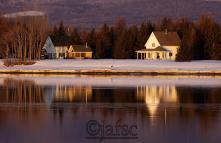 A dreamed home on a border of the pristine lake