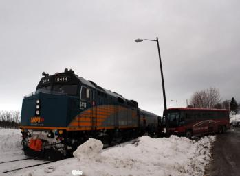 In New Carlisle the train from Montreal arrives three times a week