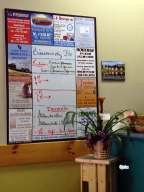 A little Rest 'Chez Flo' near me The Menu and publicity
