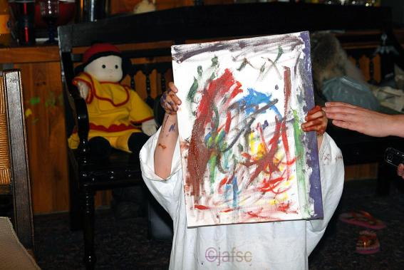 My grandson and his art