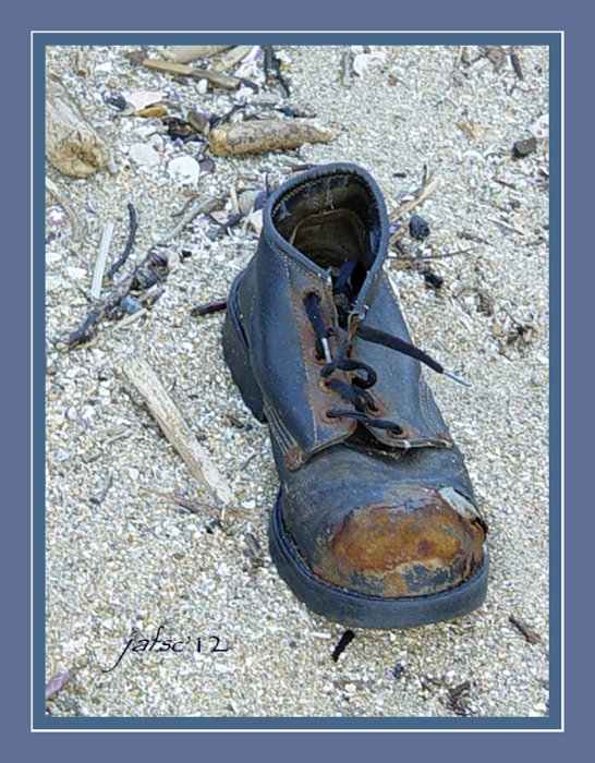 Old shoe abandoned
