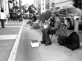 San Francisco :Músico callejero