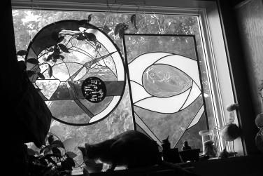 Monsieur Hercules Poirot on his favourite window