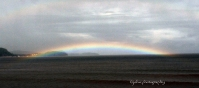 Panoramic of a rainbow