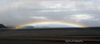 Panoramic of a rainbow