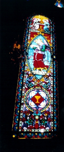 From inside the church
