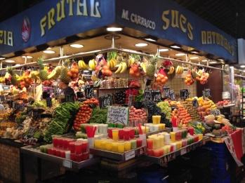 Kiosco de frutas enLa Boquería