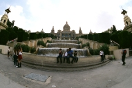 En el Monjuic, Fuente and tourists