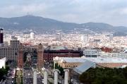 Vista de Barcelona desde la terraza del Mont Juic