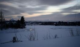 Petite rivière glace