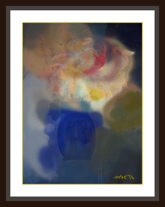 Florero-azul